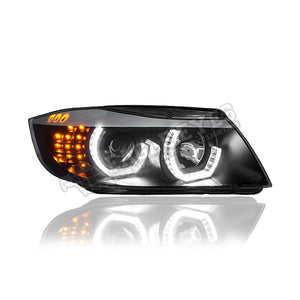BMW 3 Series E90 Projector LED Cool Look Headlamp 05-08 (4 Door)