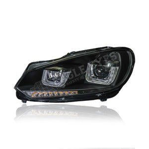 Volkswagen Golf MK6 Projector LED Sequential Signal Headlamp 08-12