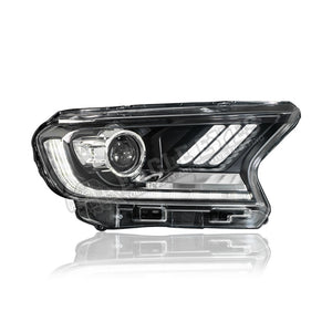 Ford Ranger T7 Projector LED Sequential+One Touch Blue Projector Headlamp 16-19 (V2)