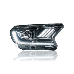 Ford Ranger T7 Projector LED DRL Sequential Signal Headlamp 16-19