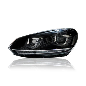 Volkswagen Golf MK6 Projector LED Sequential Signal Headlamp 08-12 (G7 Design)