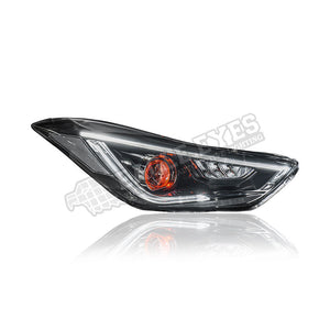 Hyundai Elantra MD Projector LED With Red Eyes Headlamp 10-16