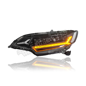 Honda Jazz GK5 Projector LED Sequential Signal Headlamp 14-17 (White Demon Eyes)