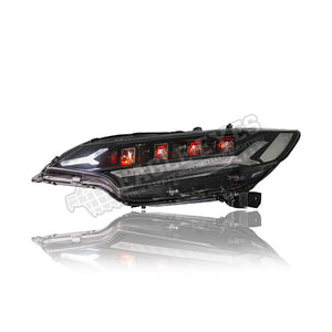 Honda Jazz GK Projector LED Sequential Signal Headlamp ( RED Demons) 14-17