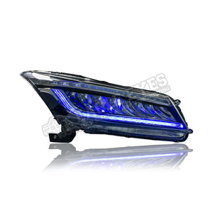 Honda Accord G8 LED Sequential Blue Signal Headlamp 08-12