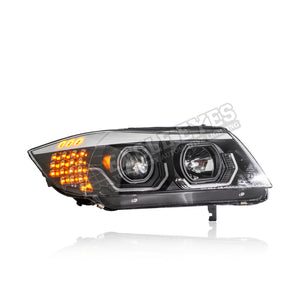 BMW 3 Series E90 Projector LED Cool Look (EVO F3D Design) Headlamp 05-08 (4 Door)
