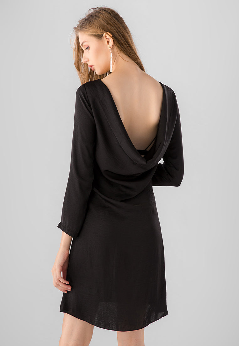 COWL BACK DRESS AUDREY