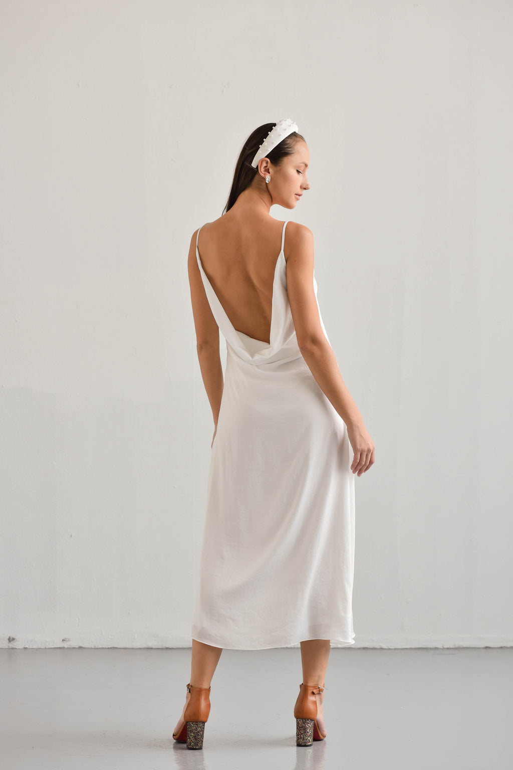 MIDI COWL BACK DRESS BRITNEY
