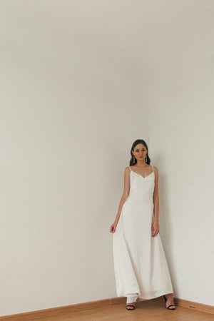 EUGENIE FLOOR LENGTH SLIP DRESS