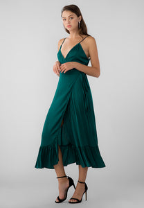 WRAP SLIP DRESS HELEN
