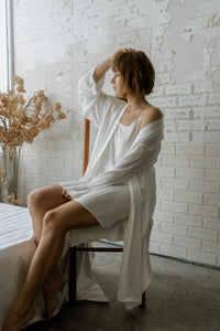 JOLENE SILK ROBE AND SLIP DRESS