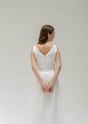 BRIDAL BUTTONED DRESS JOLIE