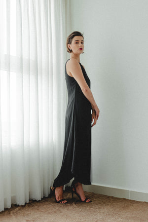 STORM ASYMMETRICAL MAXI DRESS