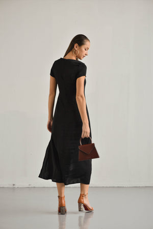 SHIFT SLIT DRESS TINA