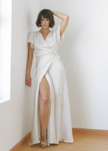 APRIL FLOOR LENGTH WRAP DRESS