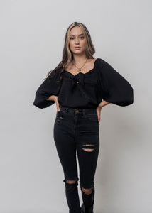 PUFF SLEEVES TOP DEMI
