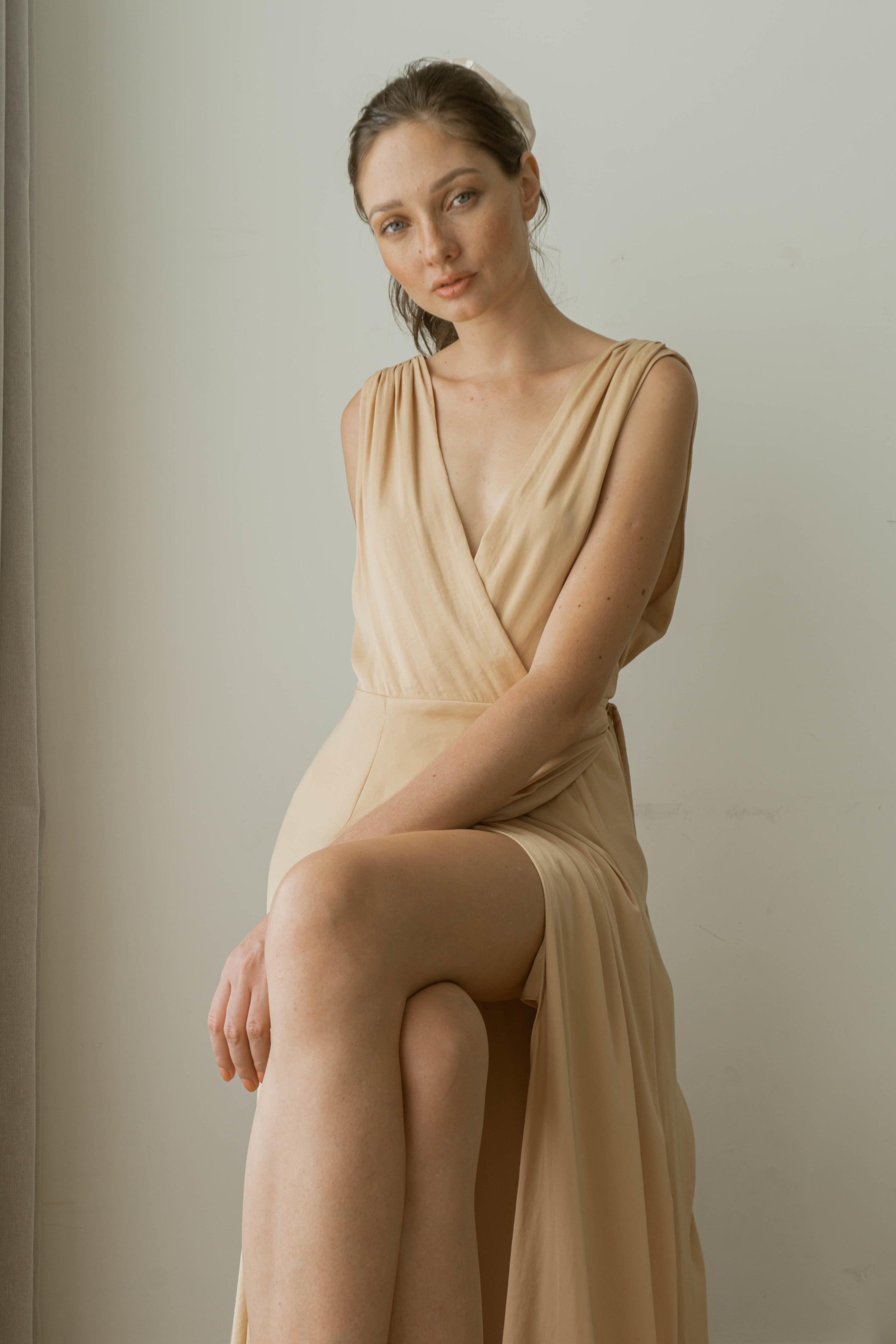 EOWYN FLOOR LENGTH WRAP DRESS