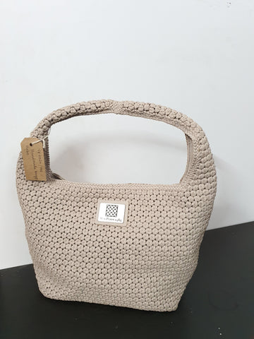 Handmade Beige Hobo Bag