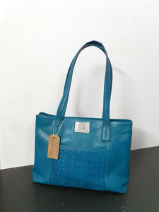 Matte Patch Turquoise Hand Bag