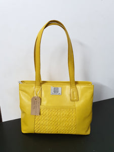 Matte Patch Yellow Hand Bag