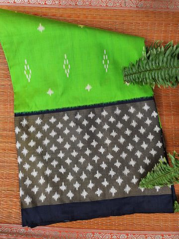Green & Black Pochampally Saree