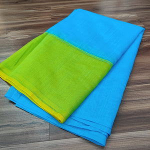 Blue Green Chanderi Saree