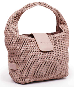 Handwoven Matte Leather Hobo