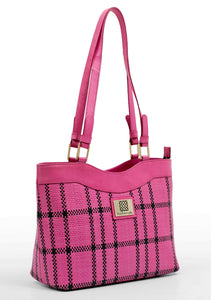 Pink & Black Checks Bag