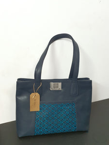 Blue Matte Patch Bag