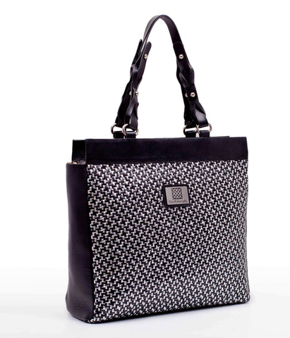 Black & Silver Big Shopper  Bag
