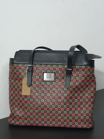 Black & Pink Big Leather Shopper