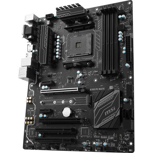 MSI B350 PC Mate AM4 ATX Motherboard