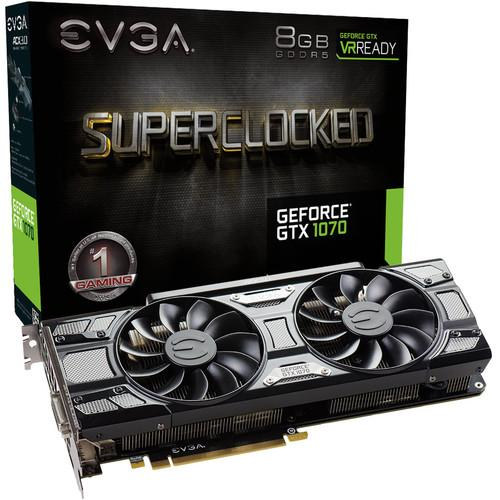 EVGA GeForce GTX 1070 SC GAMING Black Edition Graphics Card