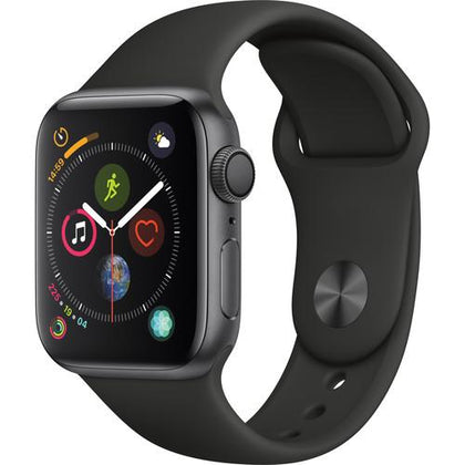 Apple Watch Series 4 (GPS Only, 40mm, Space Gray Aluminum, Black Sport Band)