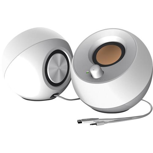 Creative Labs Creative Pebble USB 2.0 Desktop Speakers (White)