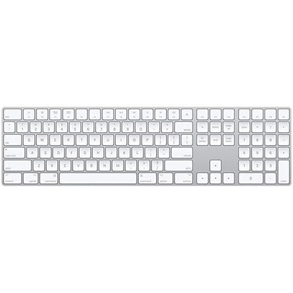 Apple Magic Wireless Keyboard with Numeric Keypad (Silver)