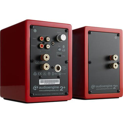 Audioengine A2+ Wireless Bluetooth Speaker System (Hi-Gloss Red, Pair)