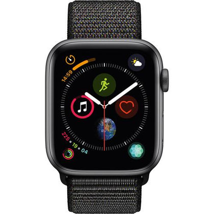 Apple Watch Series 4 (GPS Only, 44mm, Space Gray Aluminum, Black Sport Loop)