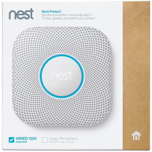 Nest Protect Battery-Powered Smoke and Carbon Monoxide Alarm (White)