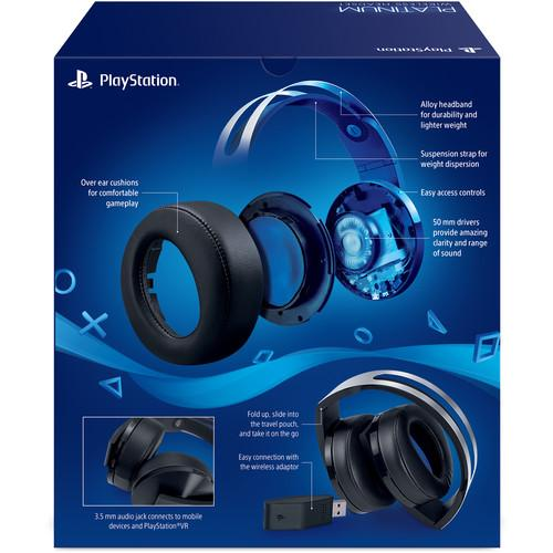 Sony PlayStation 4 Platinum Wireless Headset (Black & Silver)