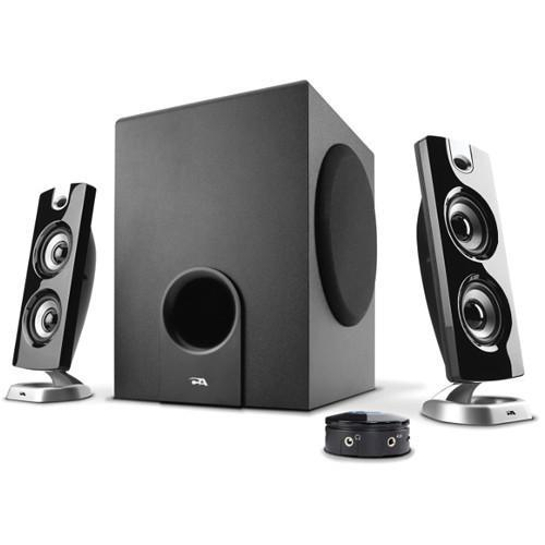Cyber Acoustics CA-3602 3-Piece Flat Panel Subwoofer and Satellite Speaker System