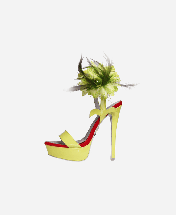 High Life Pistachio Green Heels