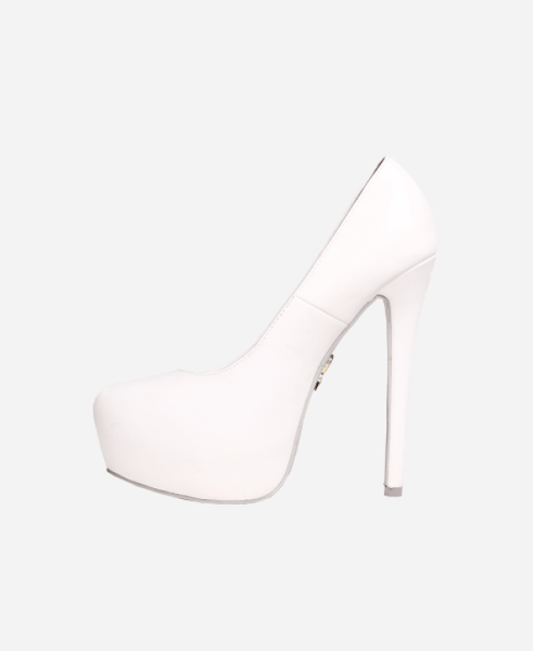 Fresh Pump White Heels