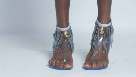 Shake It Anklets - Grey
