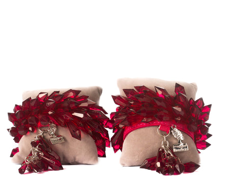 Extra Spike Anklets - Red