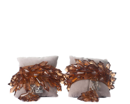 Extra Spike Anklets - Brown