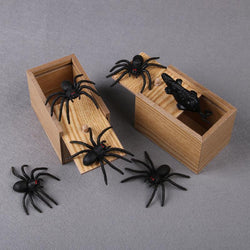 Wooden prank scare box halloween gift