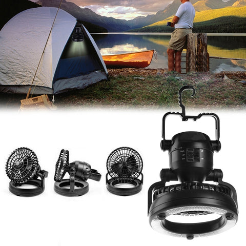 2 in 1 Camping LED light and Fan