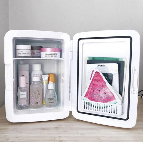 Image of mini beauty cosmetic makeup fridge