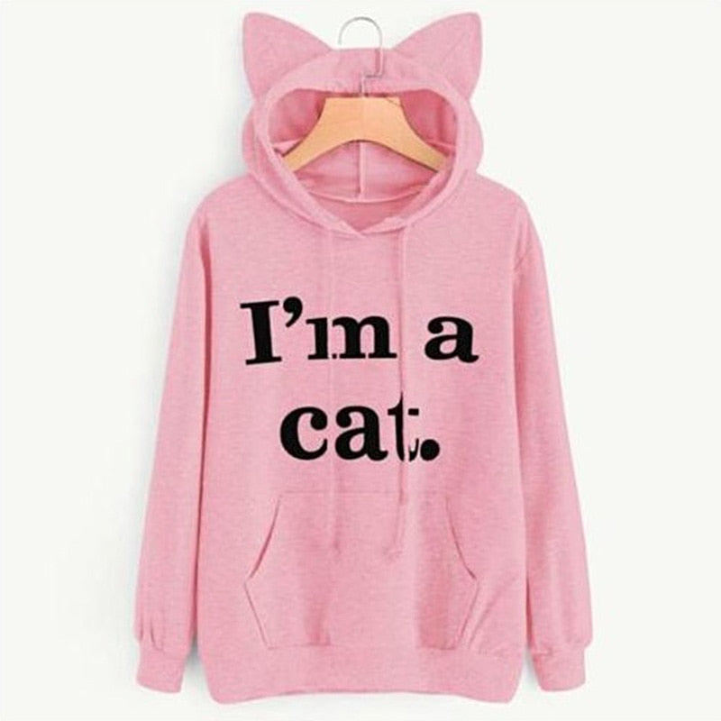 Long Sleeve Cat Hoodies